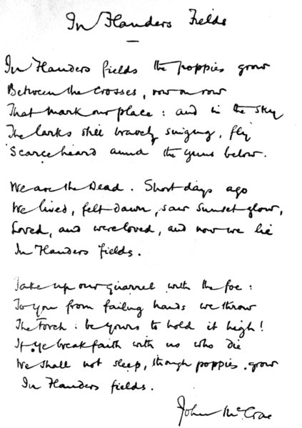 In_Flanders_fields handwritten